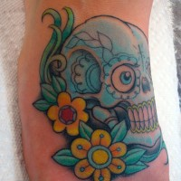 Skull Color on Top of Foot