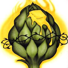 Flaming Artichoke