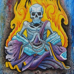 Zen Skeleton on Fire